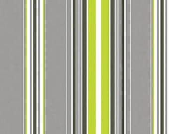 Brigitte Wallpaper Stripe Gray by Contempo Fabrics of Benartex