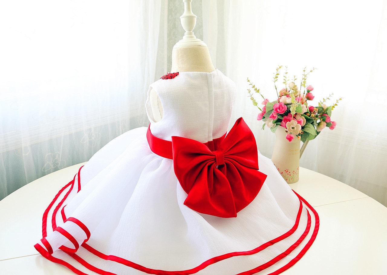 Weihnachten rot Kleinkind Mädchen Weihnachten Kleid Baby