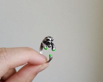 Lion ring, Custom Colored Animal Wrap ring,  Birthday Gift