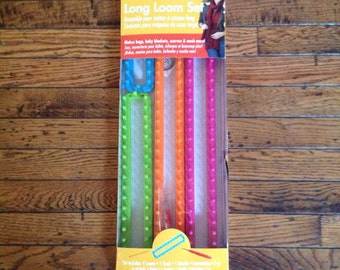 Boye Long Loom Set 4 Looms Hook Needle Instructions