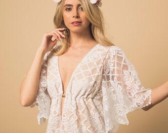 Wedding Dress, Boho wedding dress, lace wedding dress, crochet lace, crochet lace dress, casual wedding dress, bohemian wedding dress,
