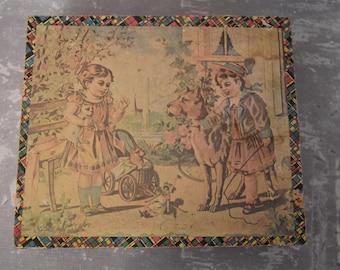 Antique Victorian Block Puzzle