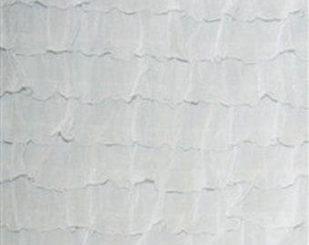 """Bright White 2"""" Ruffle Fabric"""