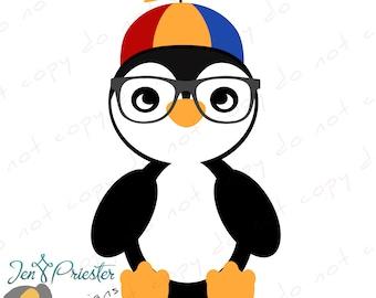 Fun Penguin Digital Clipart (PNG)