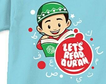 Boys Muslim shirt Tshirt, Cotton Tshirt, Kids Tshirt, Long Sleeves Tshirt, Green Tshirt, Toddler Tshirt, Muslim Gifts
