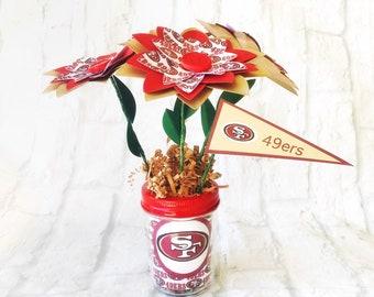 San Francisco 49ers Paper Flower Bouquet