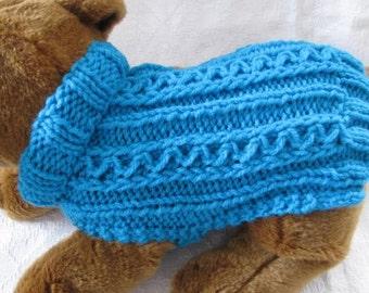 Knit Dog Sweater knitting pattern Zig Zag Rib design Downloadable PDF