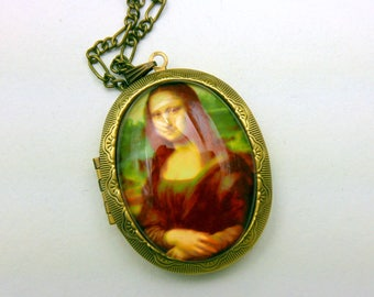 Mona Lisa Leonardo da Vinci locket Necklace 3040M