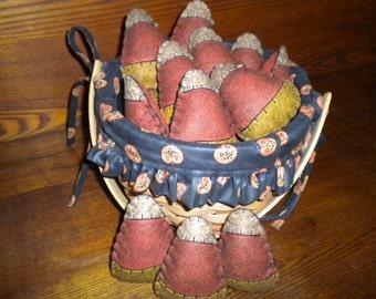 Small stuffed candy corn set of 3.