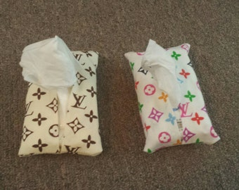 Louis Vuitton Inspired Pocket Tissue Covers You Choose Color!