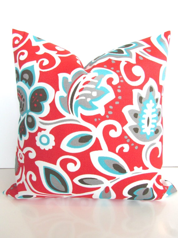 coral pillow turquoise pillow covers teal outdoor decorative