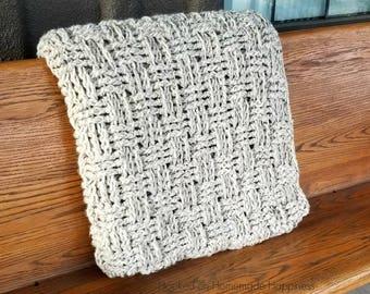 Crochet Blanket Pattern - Chunky Crochet Blanket Pattern - Crochet Afghan Pattern - Crochet Throw Blanket Pattern