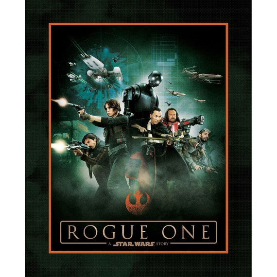 Rogue One A Star Wars Story Quilt Fabric Panel 36in x 44in