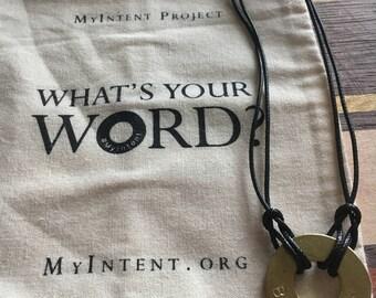 """MyIntent Bracelet - """"Breathe"""" / Wristlet"""
