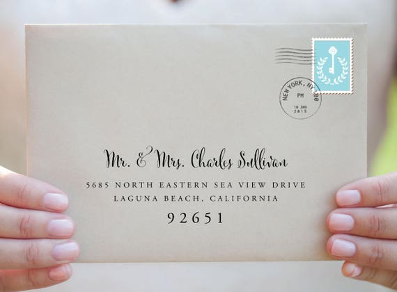Custom Wedding Envelope-Custom Calligraphy Envelope-Envelope ...
