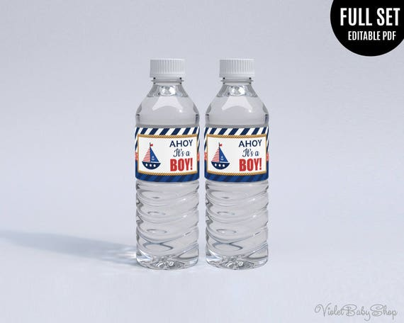 Mineral Water Sticker Template. Printable Mineral Water Label.