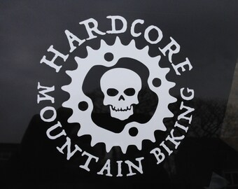 Hardcore Mountain Biking - Car Window Vinyl Decal