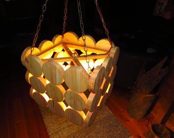 Wood lamp - hanging lamp-Scandinavian style