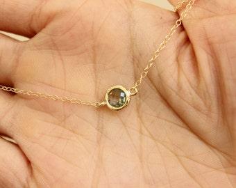 Black necklace, black choker necklace, tiny dot necklace, simple necklace, dainty gold necklace,  thin necklace, delicate necklace, dainty.