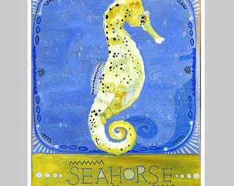 Animal Totem Print - Seahorse