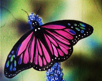 Butterfly, Acrylic painting, digital download artwork, print