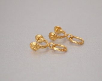 2 PCS, Bail, Ice-pick Bail, Gold Vermeil Pendant Bail, Jewelry Bail, Gold Vermeil Necklace Bail, DIY Jewelry Supplies, Jewelry Supplies