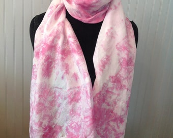 Mother's Day, Silk Scarf, Scarf, Hand Dyed Silk Scarf, Hand Painted Silk Scarf, Habotai Scarves