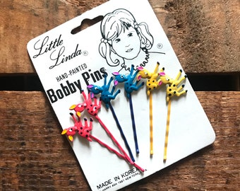Vintage Bobby Pins - Vintage Hairpins, Vintage Beauty Supplies, Vintage Hair Accessories, Little Linda, Children, Deadstock, Old Stock, NOS