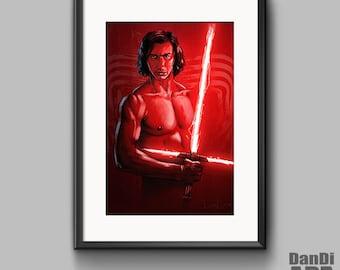 Kylo Ren, Star Wars The Last Jedi, digital art, movie art, movie, portrait