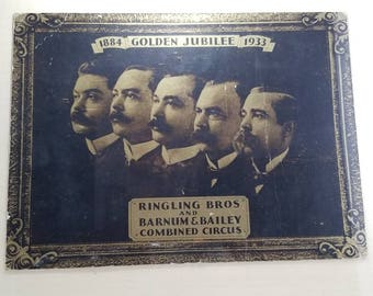1884-1933 Golden Jubilee Ringling Brothers and Barnum & Bailey Combined Circus Lithoprint