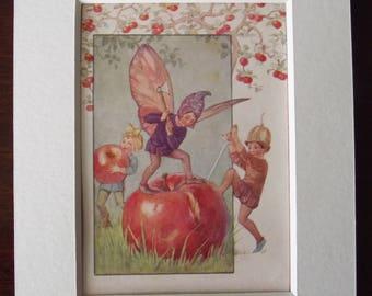 Beautiful c1928 1st edition Margaret Tarrant The Orchard Fairies