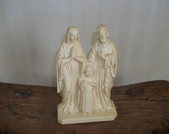 Holy Family Religious Hard Plastic Statue