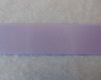 Satin ribbon, double-sided, pastel lilac (S-230)