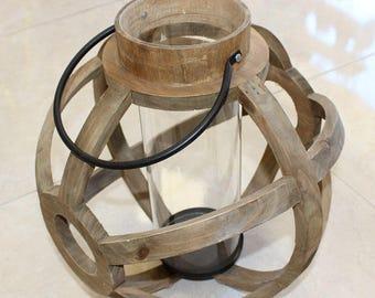 Wooden Lantern, Wooden Candle Holder