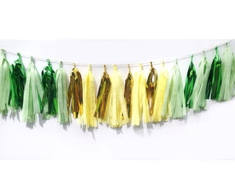 Tassel Garland in Pineapple, FREE Shipping, Yellow, Green, Gold, Kids, Childrens, Birthday, Wedding, Home, Party, Decor