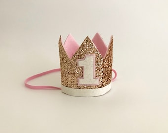 Rose gold glitter crown | Birthday Crown |  Child Headband | Crown Headband | 21st Crown | 40th Crown | Adult Crown