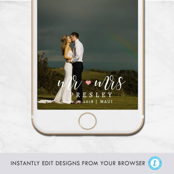 wedding geofilter template snapchat geofilter mr and mrs
