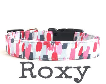 Modern Dog Collar, DOG COLLARS, The RoXY, Dog Collar, Dog Collars for Girls, Dog Collar, Jazzy Dog Collars, Girl Dog Collar