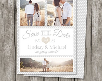 Save The Date Template Card - Printable Save the Date Photo Card - SD02