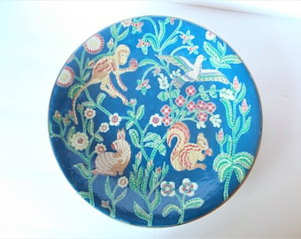 Vintage Chinoiserie Plate Decorative Plate Palm Beach Decor Plate Wall decor Tropical Decor