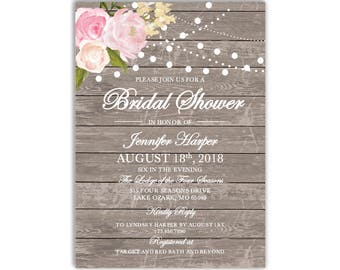 Bridal Shower Invitation Template DIY Bridal Shower Invite Cheap Invitation Rustic Shower Invite INSTANT DOWNLOAD Microsoft Word #CL138