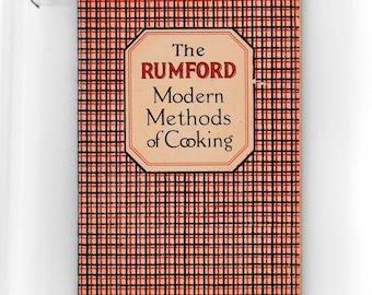 Vintage 1920's Cookbook The Rumford Modern Methods of Cooking Booklet Pamphlet