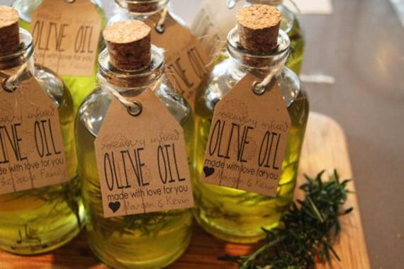 FREE SHIPPING 100 Mini Olive Oil Favors Rosemary Oregano