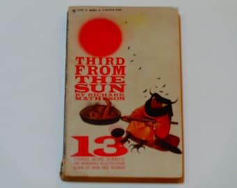 Third from the Sun - Richard Matheson - 13 Stories - Sci-Fi - Bantam Paperback Edition 1955 -  Science Fiction Book - Fiction Book