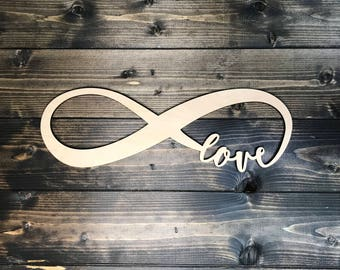 Love Forever Infinity Symbol - Love Infinity Symbol - Love Wood Sign - Valentines Day Gift - Valentines Day Decor
