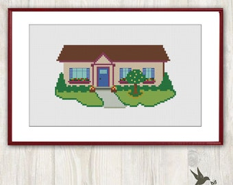 Stitch  House  Cross Stitch Pattern Needlecraft