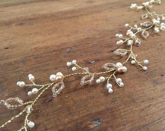 Emeli - vigne de cheveux perle