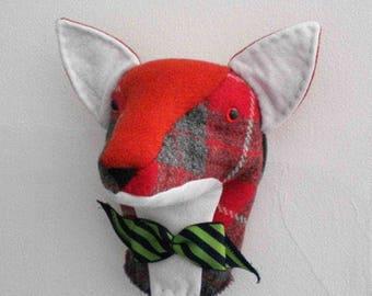 JX910E – Mr. Fox - Trophy Head - PDF Cloth Animal Doll Sewing Pattern