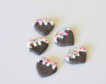 Adorable Heart Cookie Progress Keeper for Knitting and Crochet