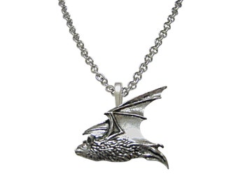 Flying Bat Pendant Necklace